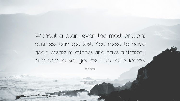 Without a plan by Yogi Berra