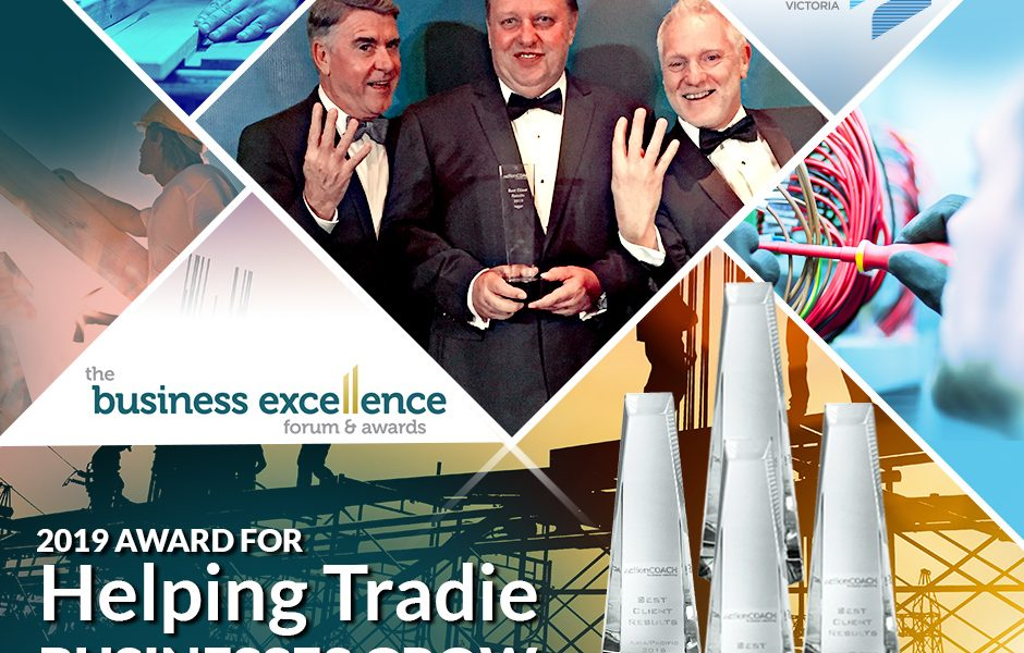 2019 Award for Helping Tradie Businesses Grow